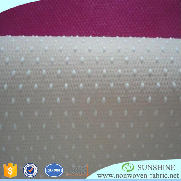 anti slip 100% polypropylene spunbonded nonwoven PVC / silica gel dotted fabric