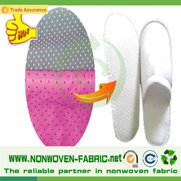 Anti-slip spunbond non-woven fabrics with PVC dot for hotel slippers