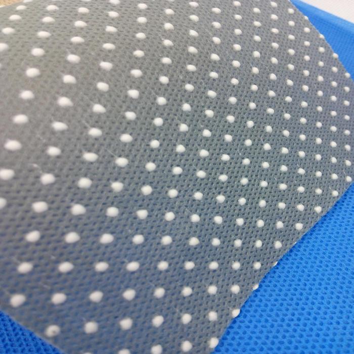 non-slip pp+pvc pp dotpp spunbond nonwoven fabric,anti-slip fabric for shoes