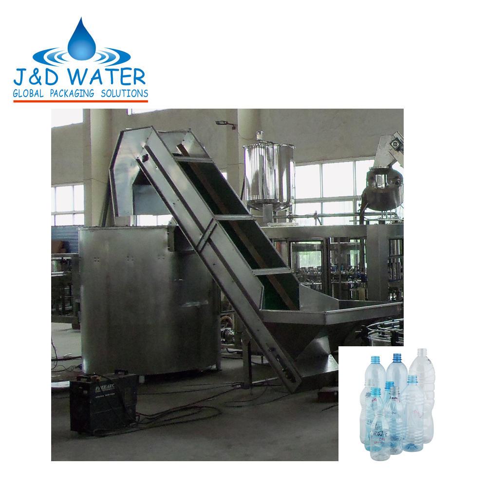 Automatic bottle unscrambler machine for PET bottle