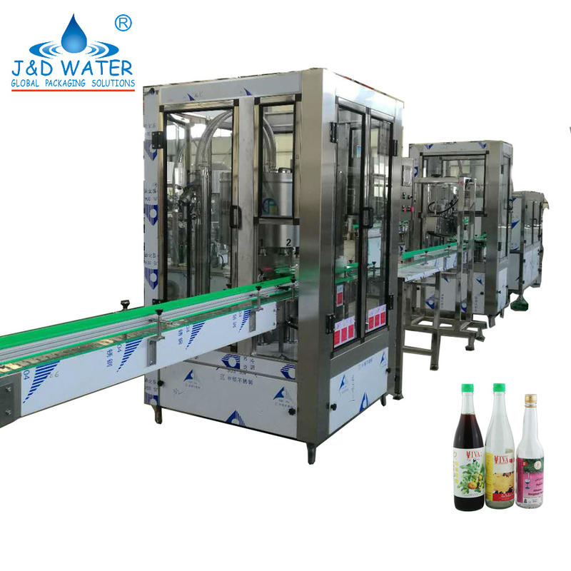 Automatic linear glass bottle filling machine for wine beer whisky champagne water