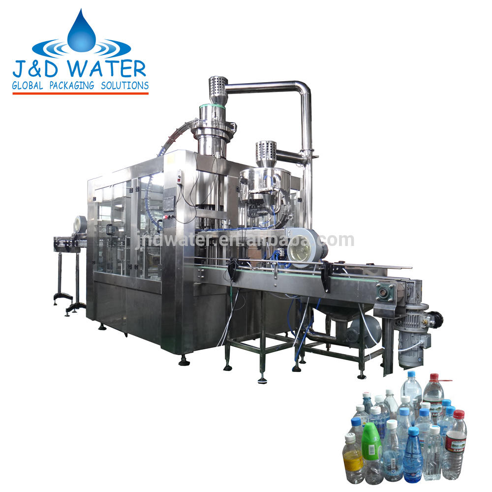 Automatic pet bottle liquid water filling capping machine