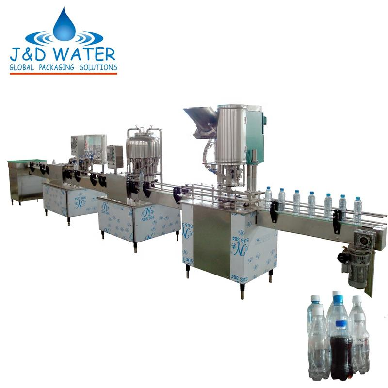 Linear Hot Beverage Washing Filling Capping Machine