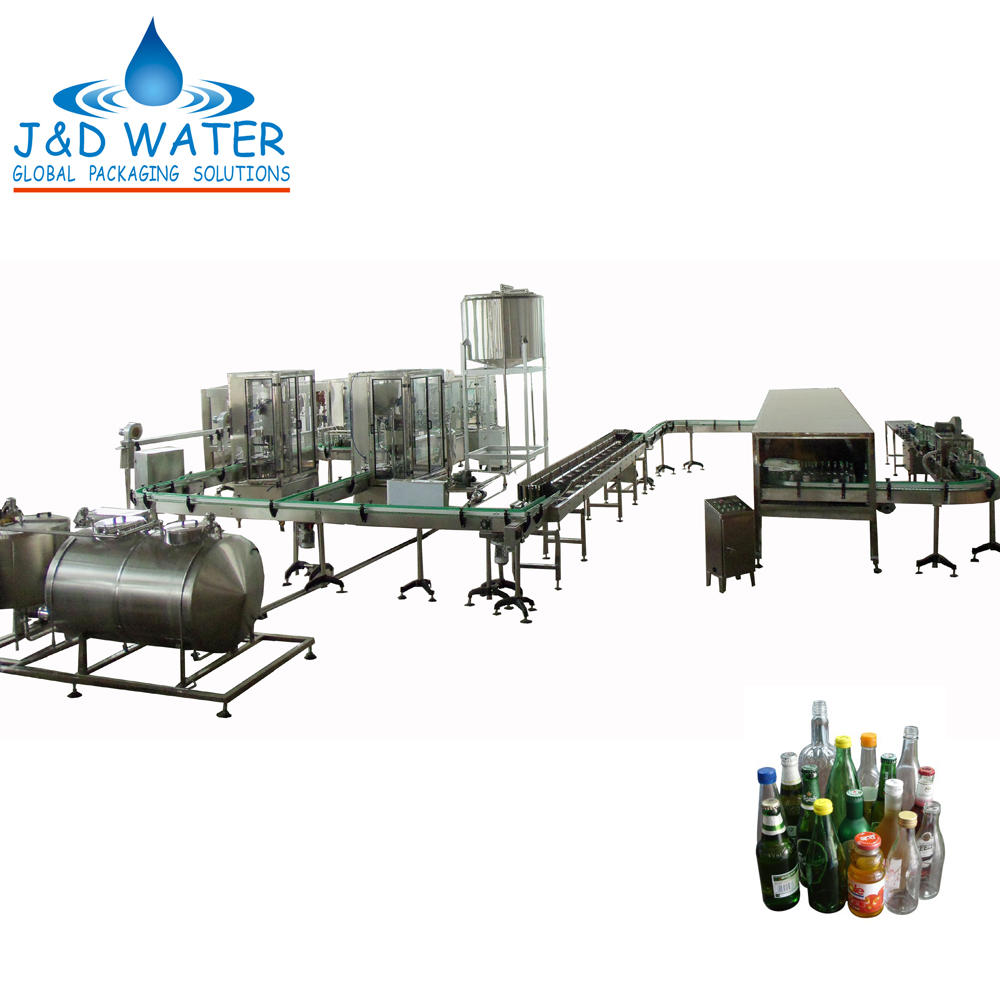 Glass Bottle Carbonated Beverage Filling Machine