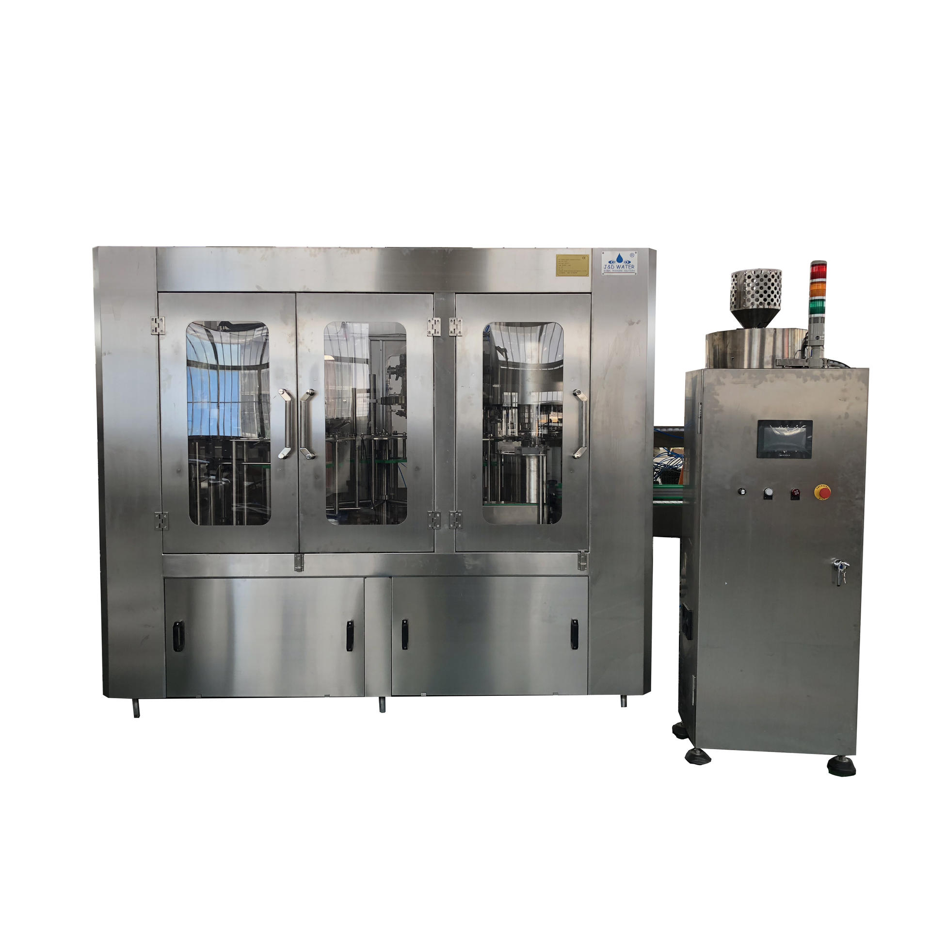 Full Automatic carbonated soft drink water filling machine production line