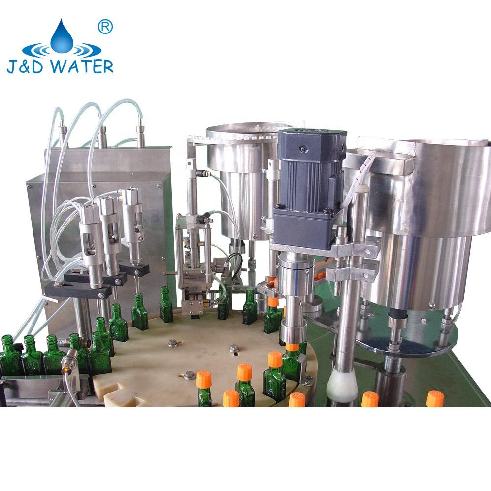 Square Bottle Beer Filling Capping Machine