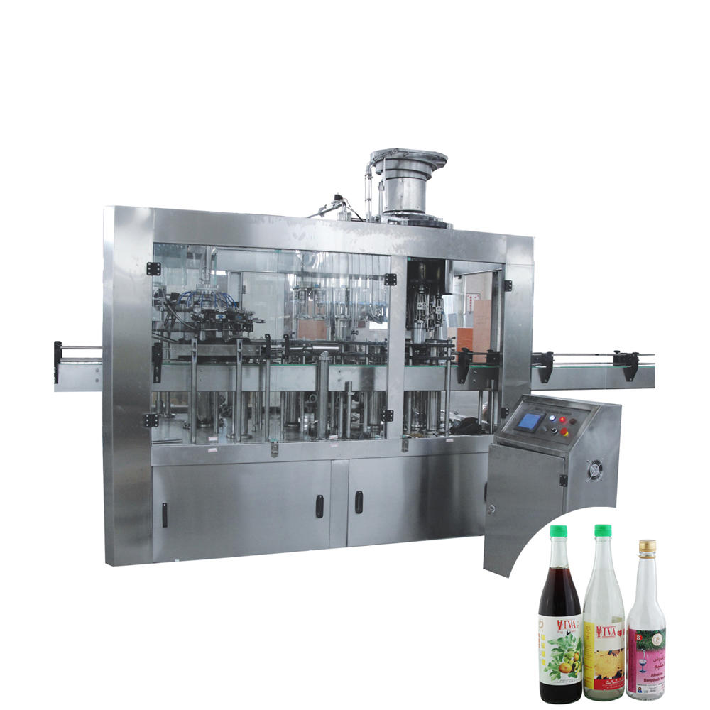 Automatic 3 in 1 Small Glass Bottle Filler with Water Filling Plugging Capping For water juice and wine