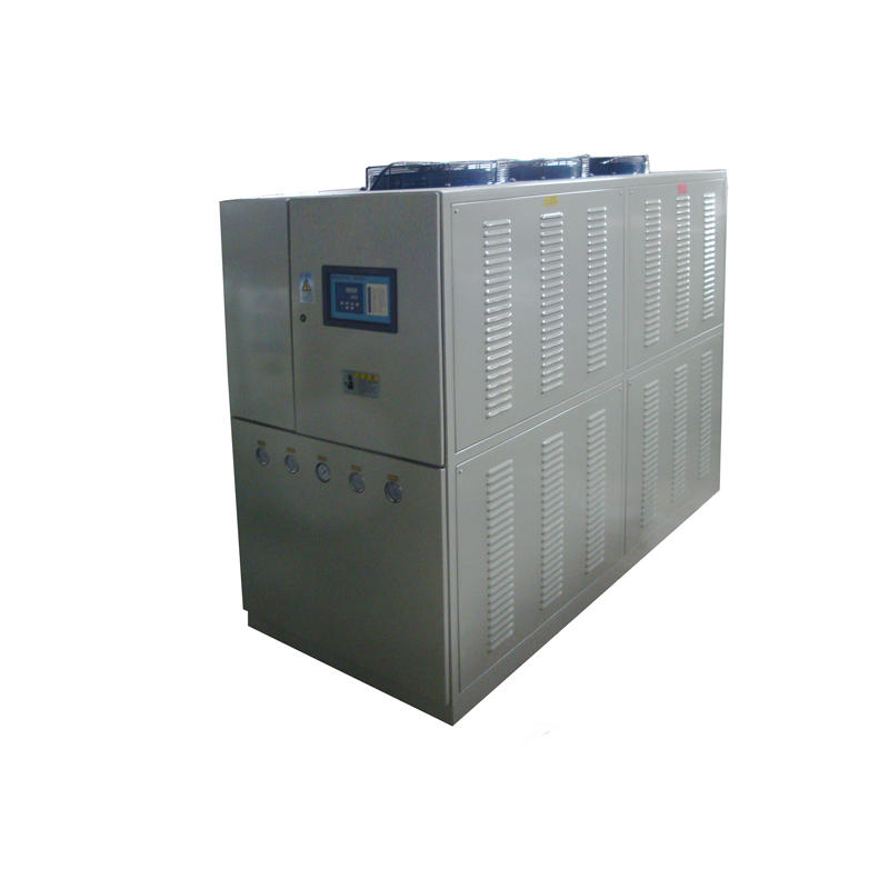 Continuous type water chiller for water plant