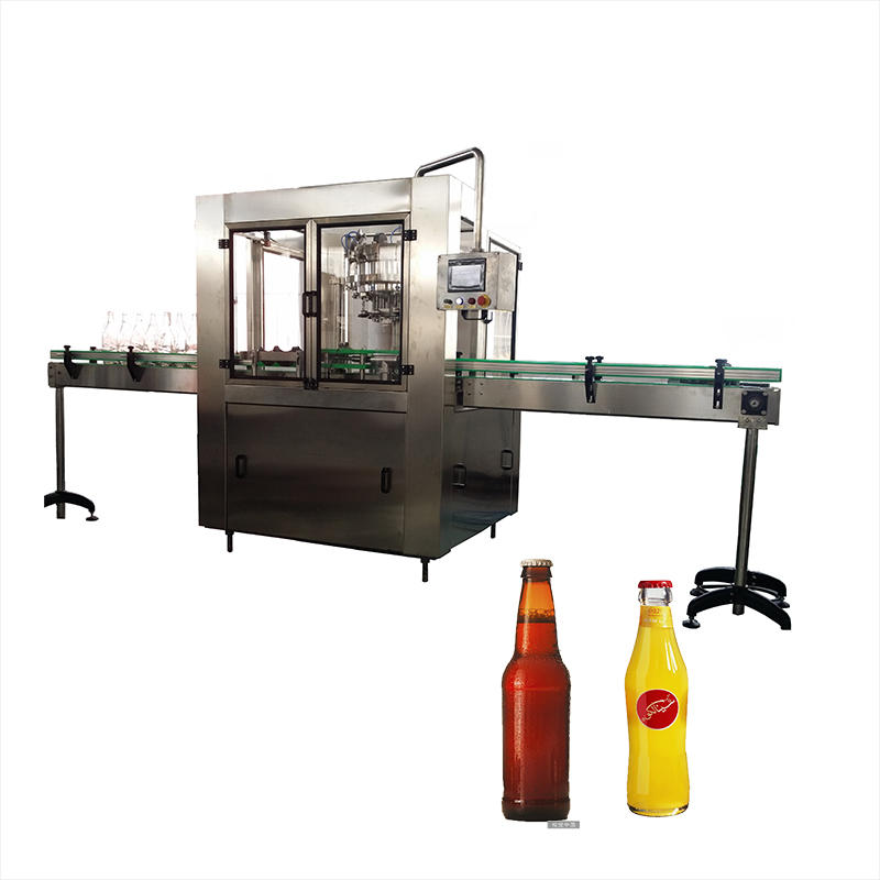 Automatic 500ml small beer juice water bottle filling and capping machine plant line