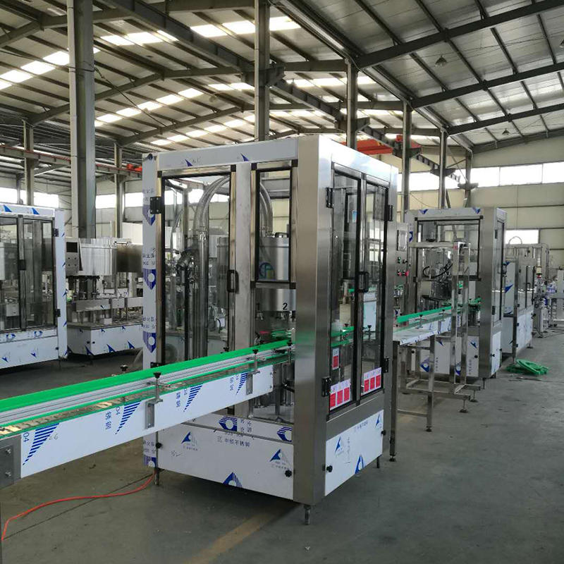 3in1 beverage glass bottle juce beer filling capping machine line