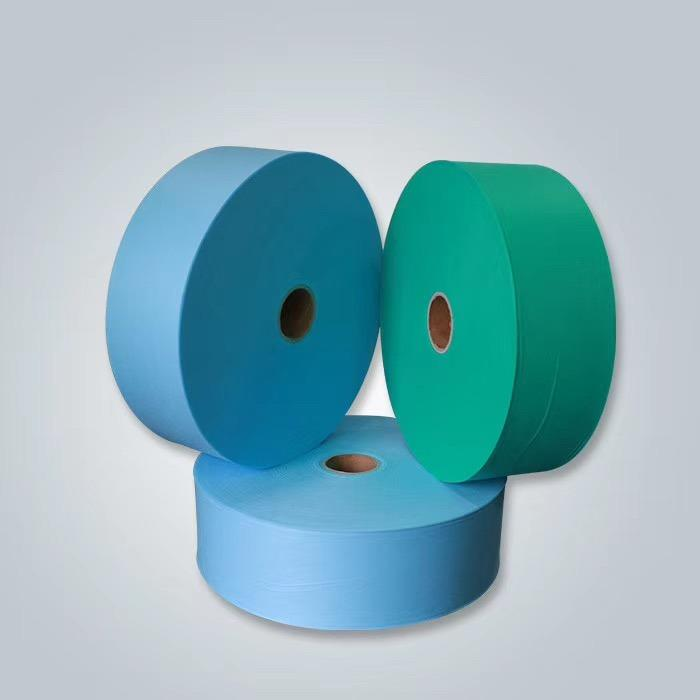 Disposable Mask Material White Blue Spunbond PP Nonwoven Fabric Roll Manufacturer