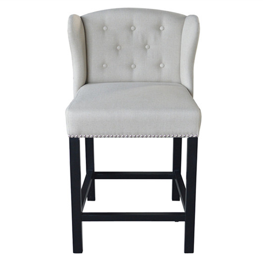 Antique Upholstered Wooden Bar Chair S2011-F05