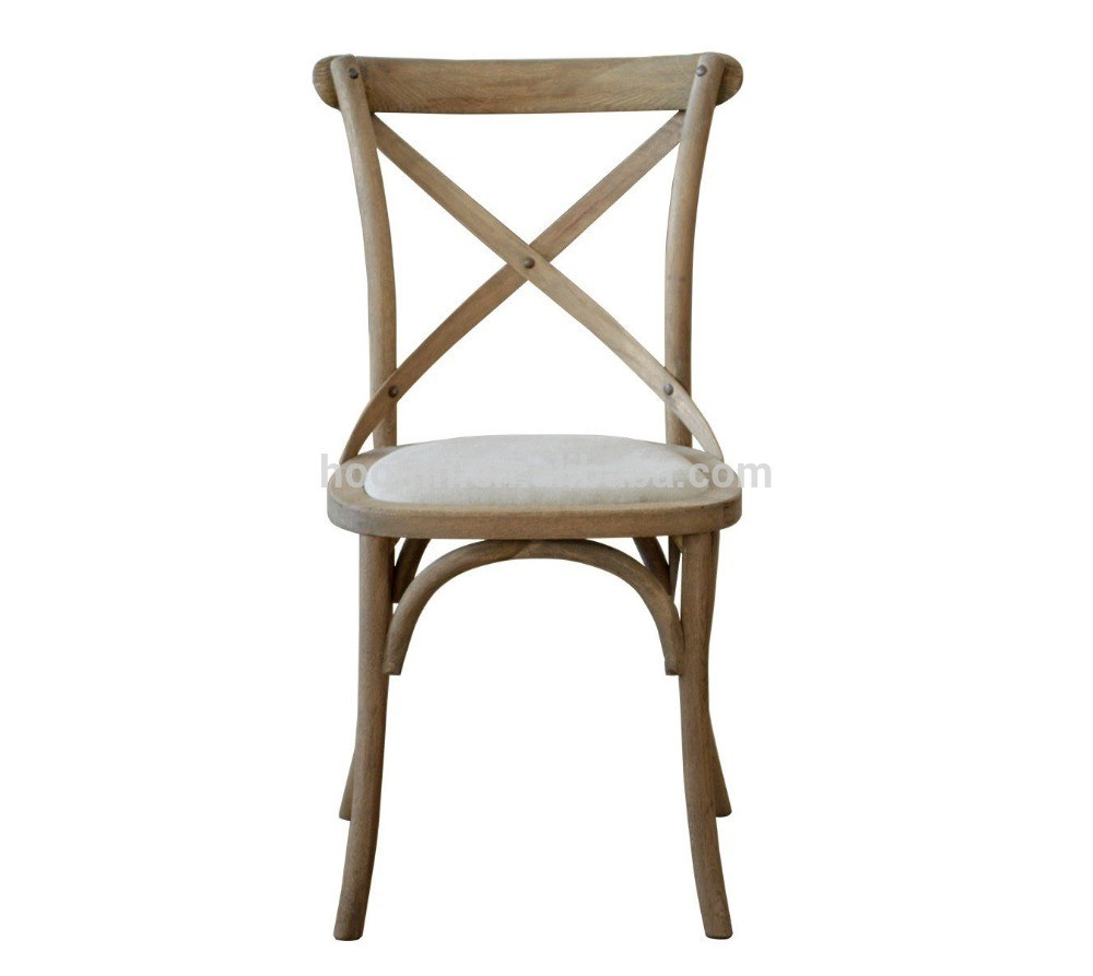 French Fabric Cross Dining Chair ED-024-F