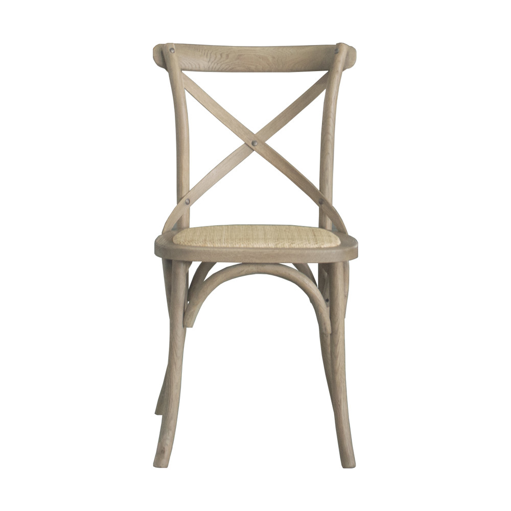 French-style cross back dining chair ED-024