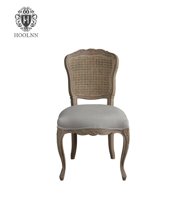 French stylish dining chair with hand carved cane back P2149