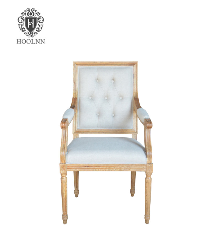 P2199-2T Elegant Classical Italian Design Wooden Dinning Chair with Armrests made in china