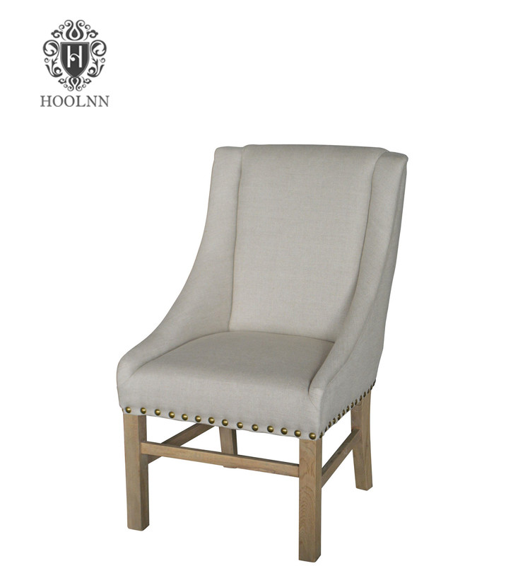 French-style Fabric wooden Dining Chair P2179