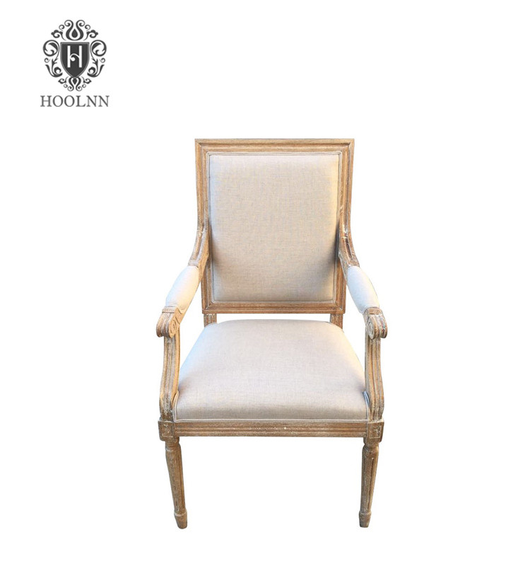 Vintage French Square Upholstered Dinning Chair