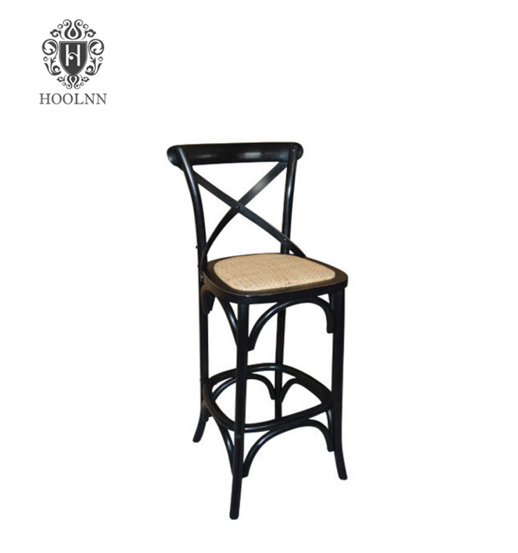 French Stylish Wooden Bar Chair Stool ED-018-4
