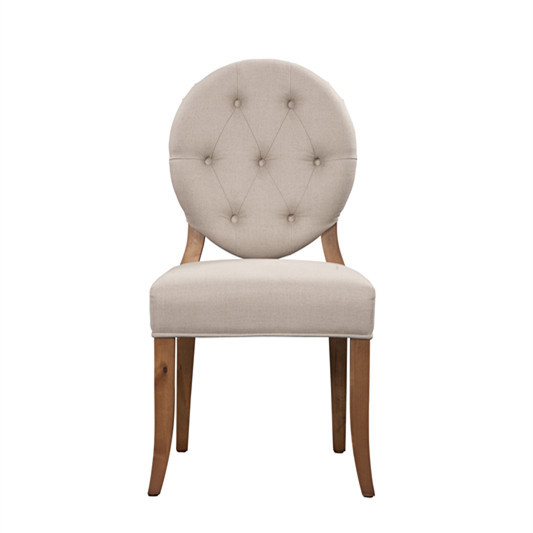 French country style upholstery tufted round back chair PH2196
