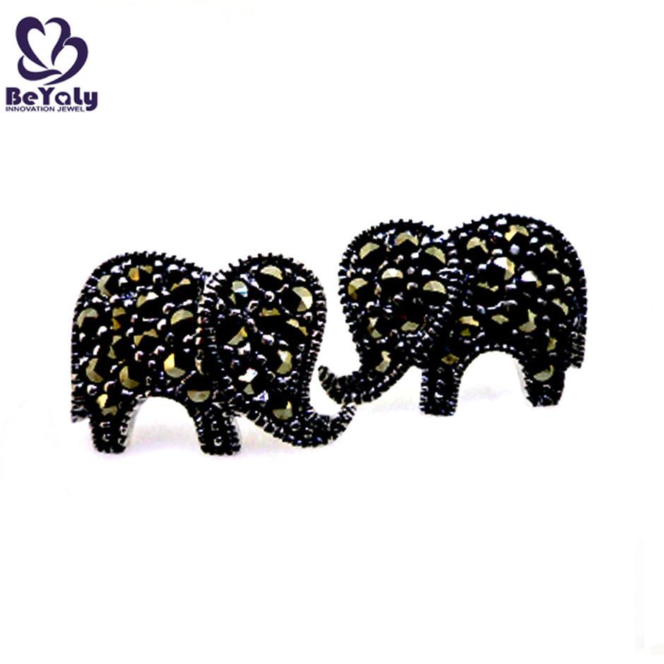 Best design ladies 925 sterling silver elephant shape earrings