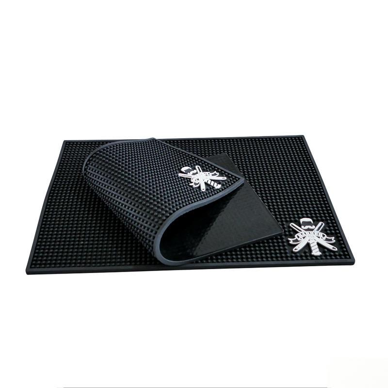Customized design Salon Hairdresser Tools Antiskid Pad Barber Work Station Mat PVC Soft Nonslip Mat with Logo
