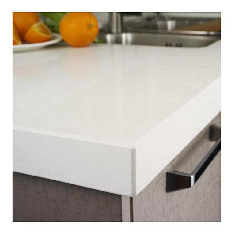 White faux quartz countertops