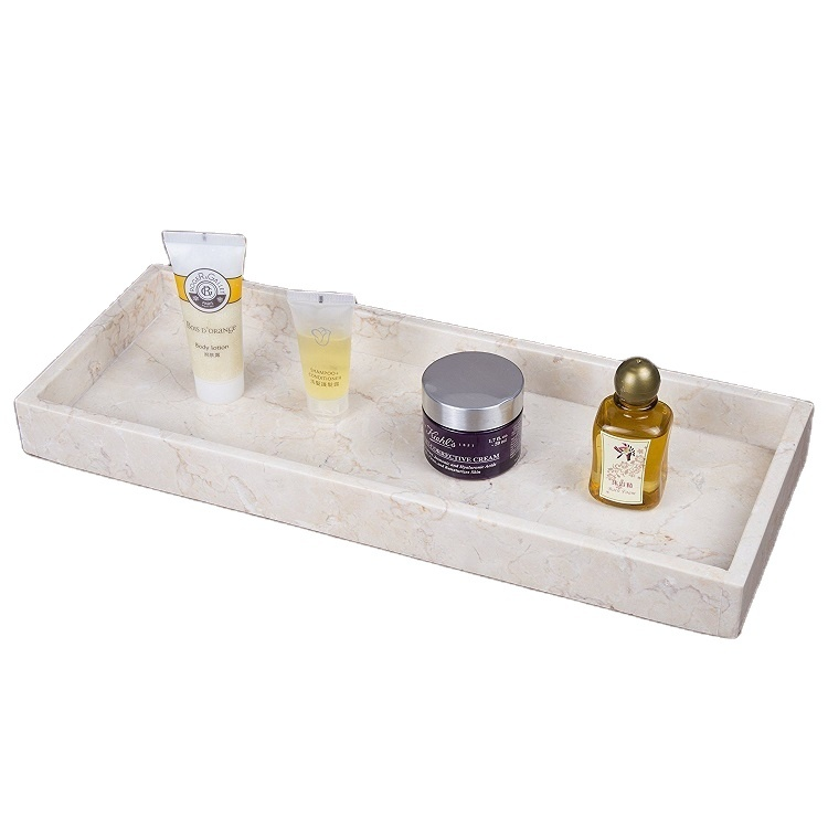 Luxury hotel resin white serving coffee tray