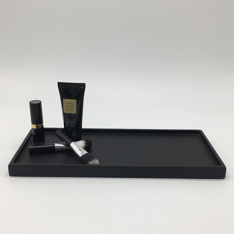 Black Cheap Decorative Hotel Resin Tableware Amenity Trays