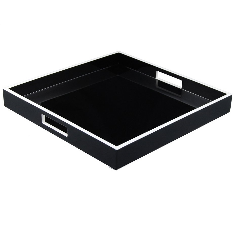 Customized Hotel polyresin acrylic hotel bathroom tray hotel amenity tray