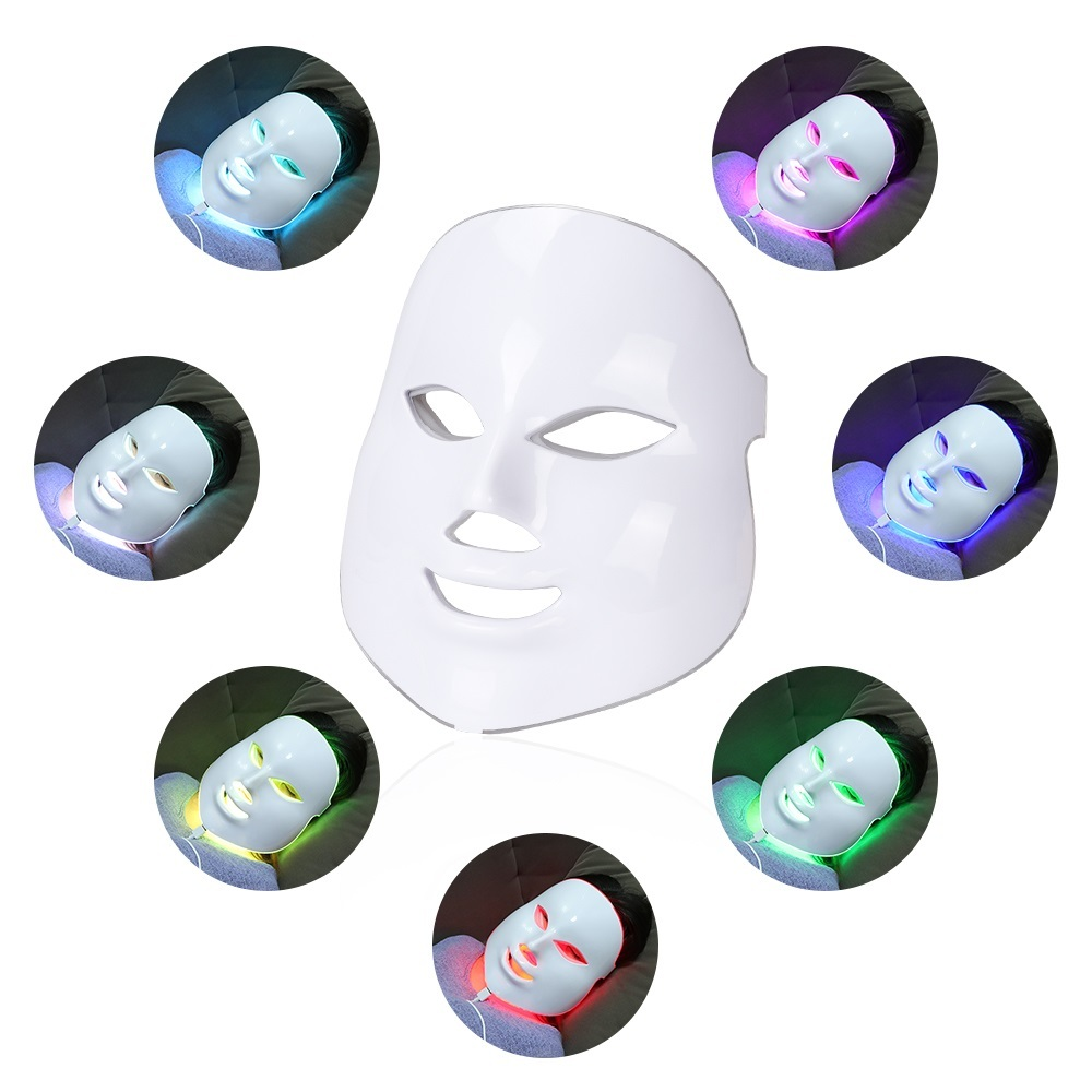 7 Colors Led Anti Aging Mask Beauty Photon Wireless Light Therapy Facial Led Face Mask