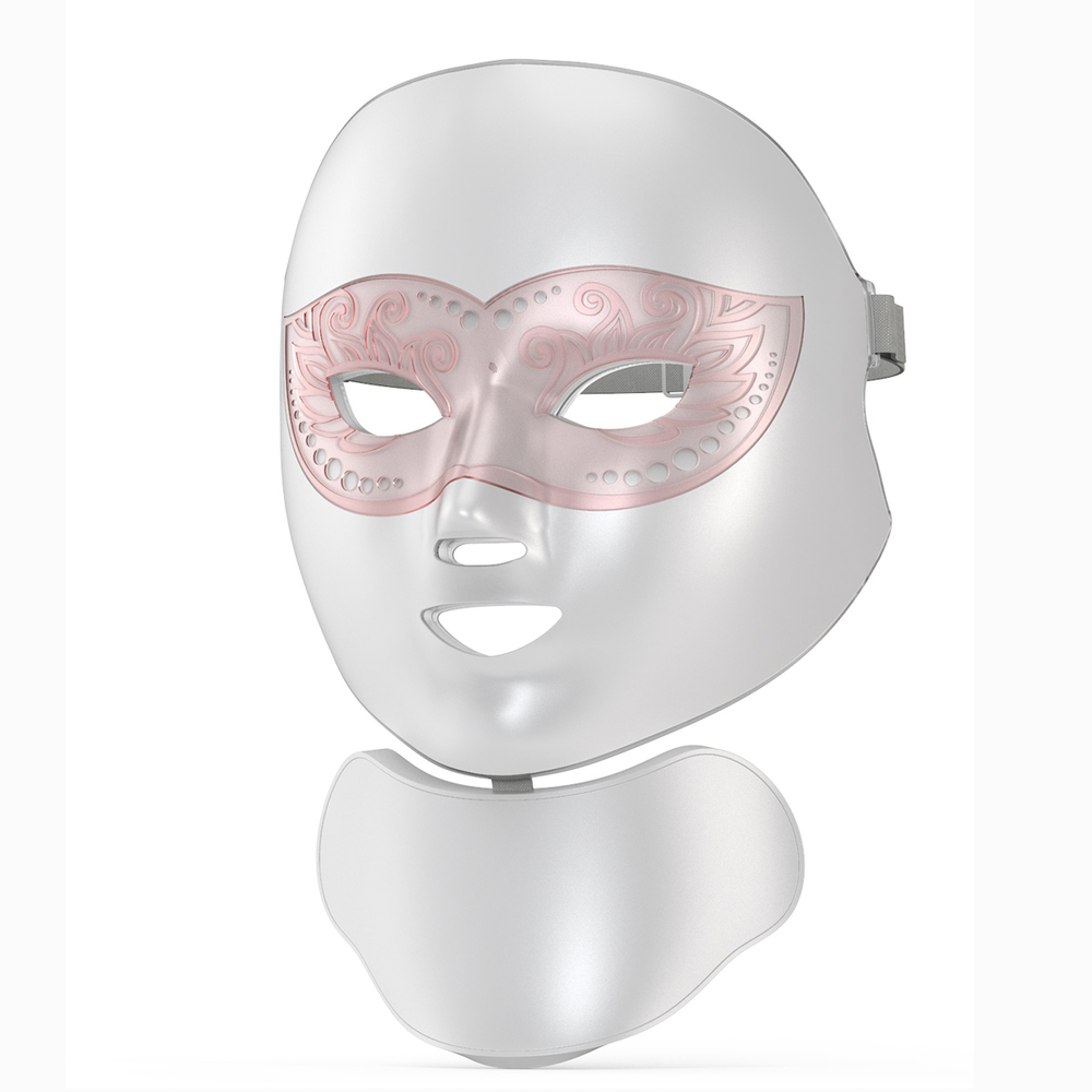 7 colorful PDT photon voice activated led anti agning mask wireless silicone beauty therapy face facial led mask