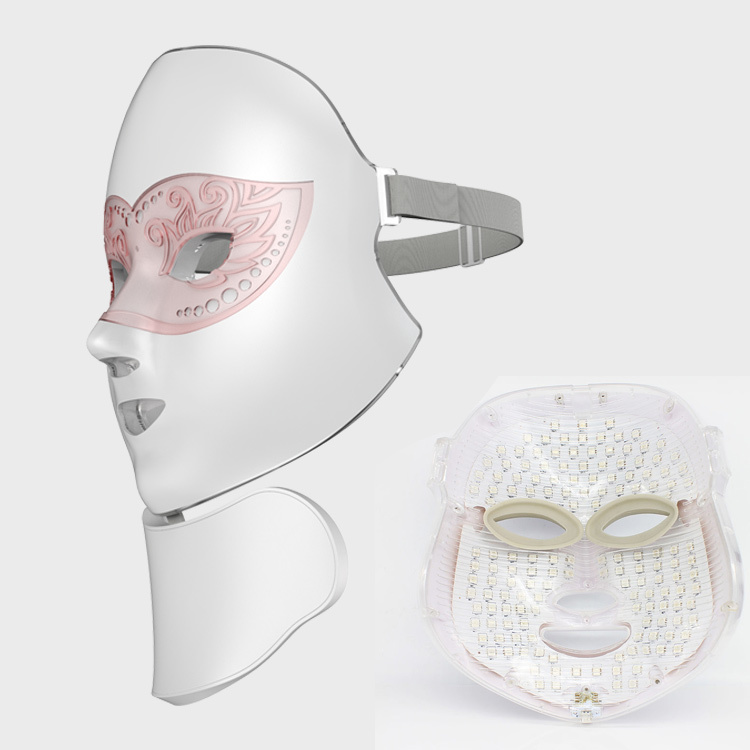 2021 Programmable Light Wireless Led Photon Mask Food Therapy Silicone Facial Led Face Mask