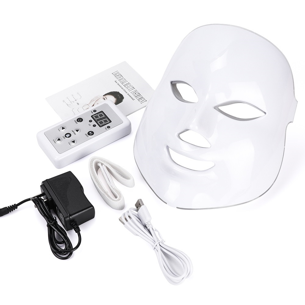 Wholesale Phototherapy 7 Colour Flashing Full Led Anti Aging Mask Wireless Neck Therapy Led Light Face Mask