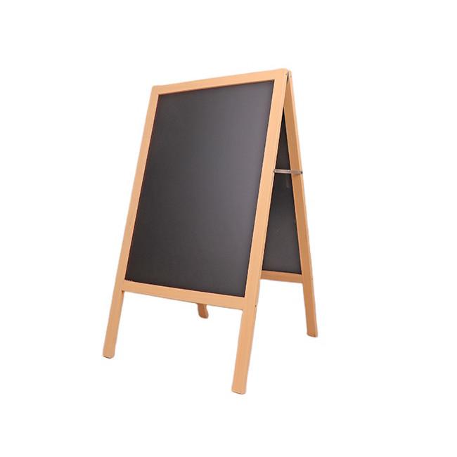 A wooden chalkboard frame for sidewalk restaurant cafe bar