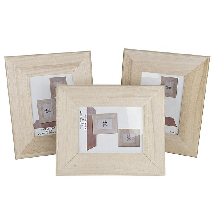 China supplier classic desktop natural wooden picture photo frames