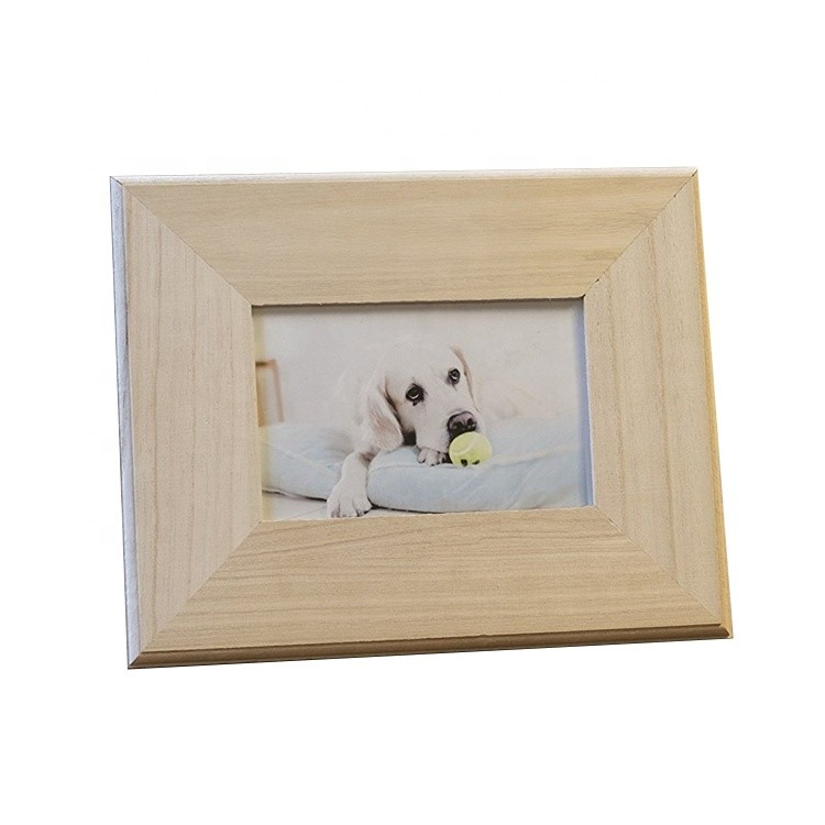 Cheap unfinished classic children gift plywood picture frame wooden