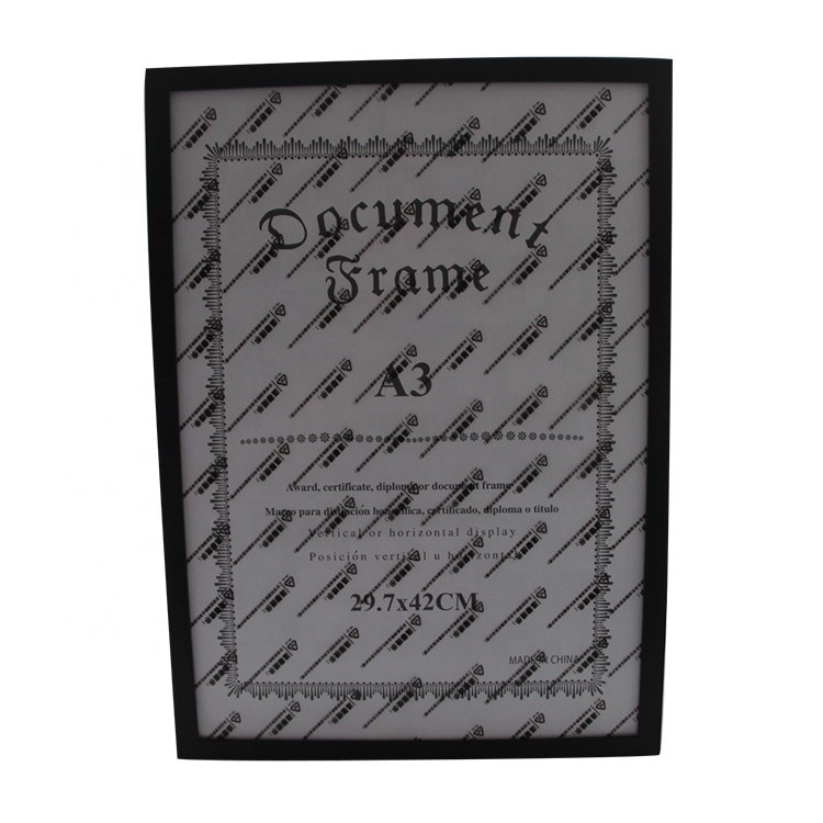 Make to order best price fashion black color wood picture frame