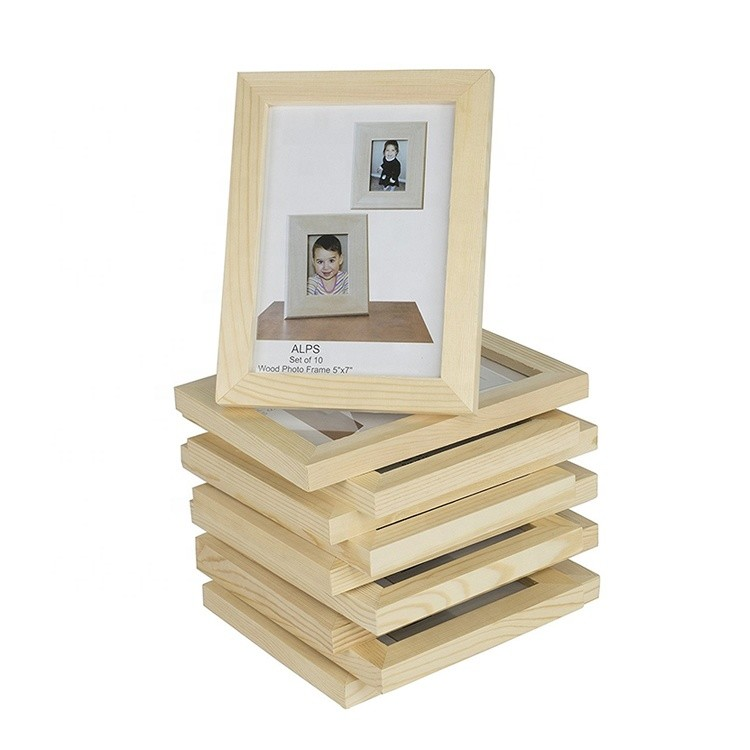 Vitalucks Custom European style wooden picture photo frame, home decoration wood modern picture frame
