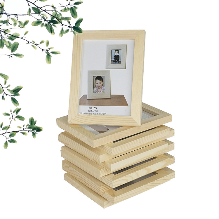 rustic style christmas decorative natural color delicate picture photo frame