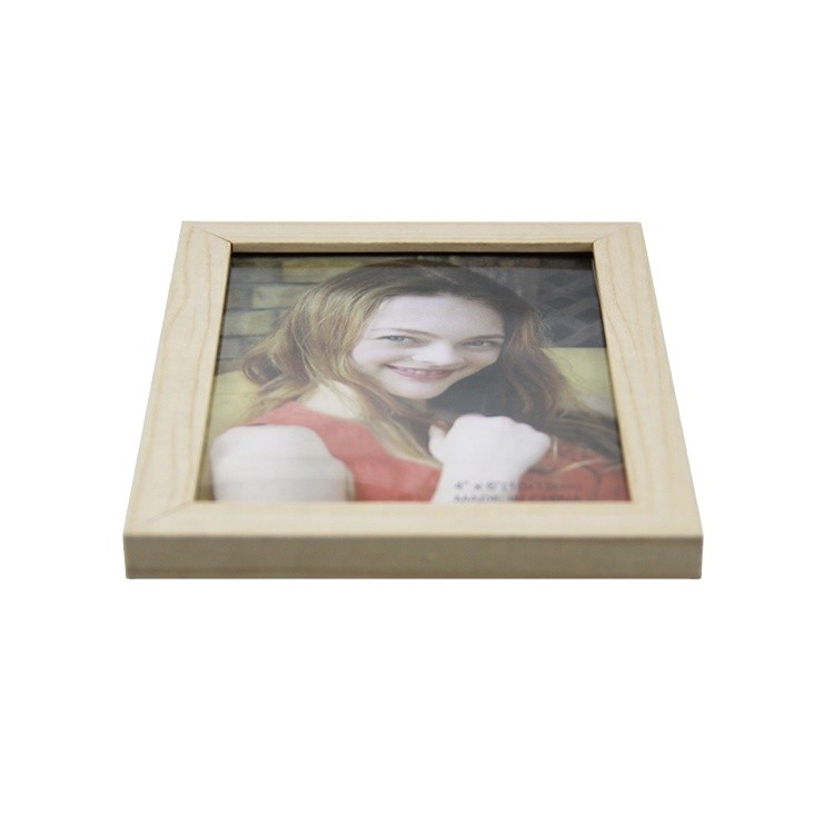 Wholesale price factory picture frame wood with glass