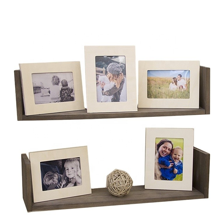 Newest European style family carved wood wall photo frame set