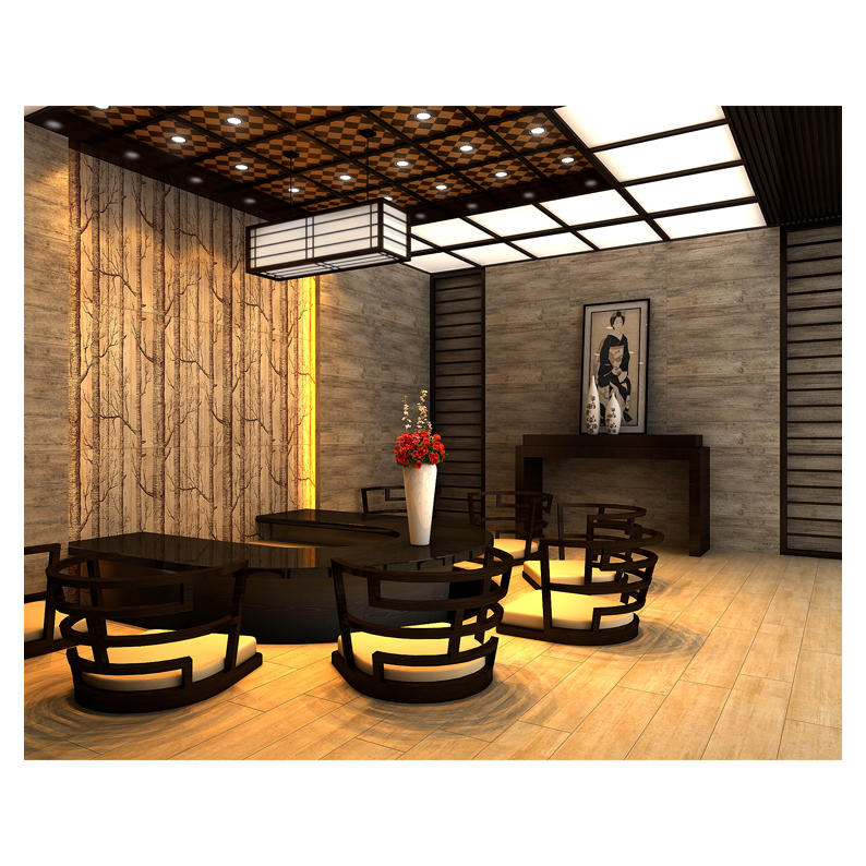 3D like natural wood ceramic floor tile