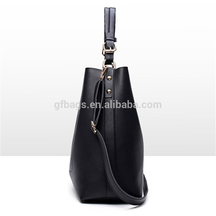High Quality genuine Leather Women black Handbag Set 3 Pcs Large Capacity Tote bags
