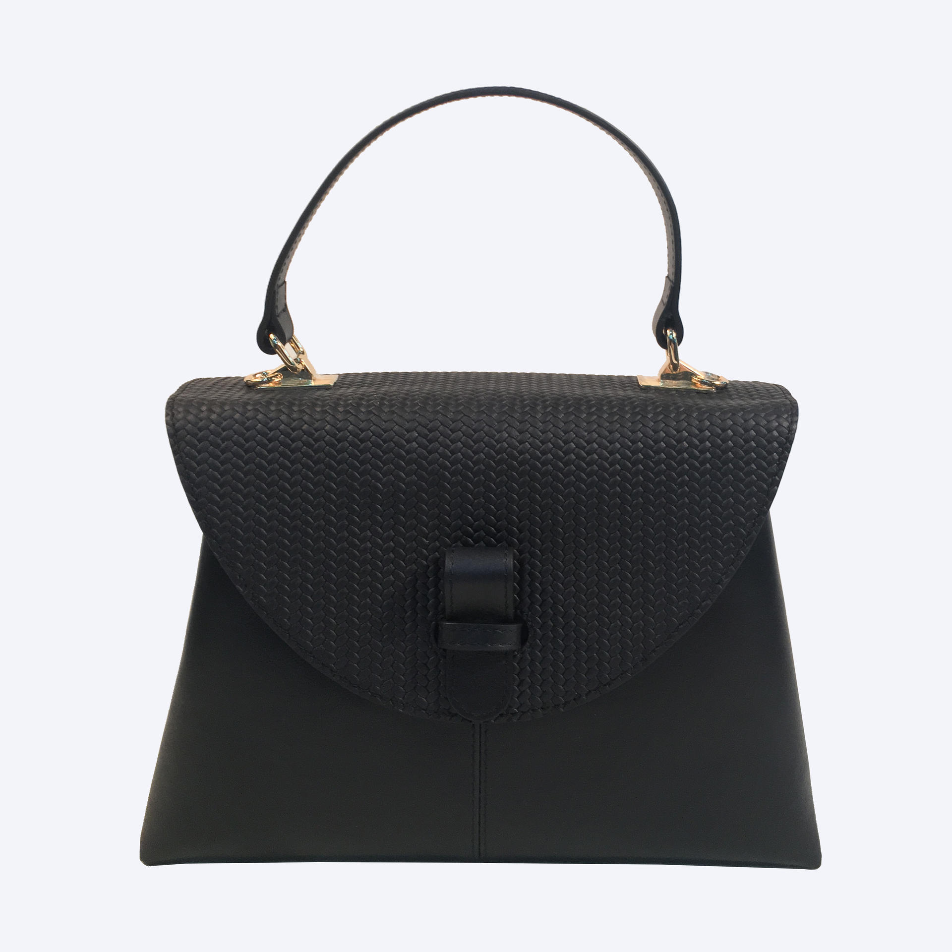 Latest Fashion Black Genuine Leather BagsLady Leather Handbag
