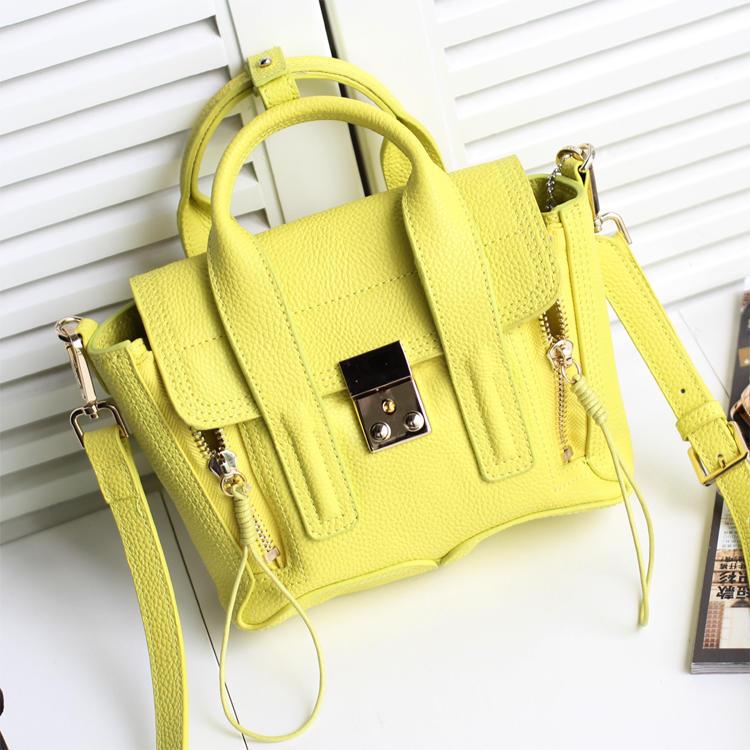 GF-X 154 Luxury Top Grain red yellow Women Genuine Ladies Leather Ladies Handbag