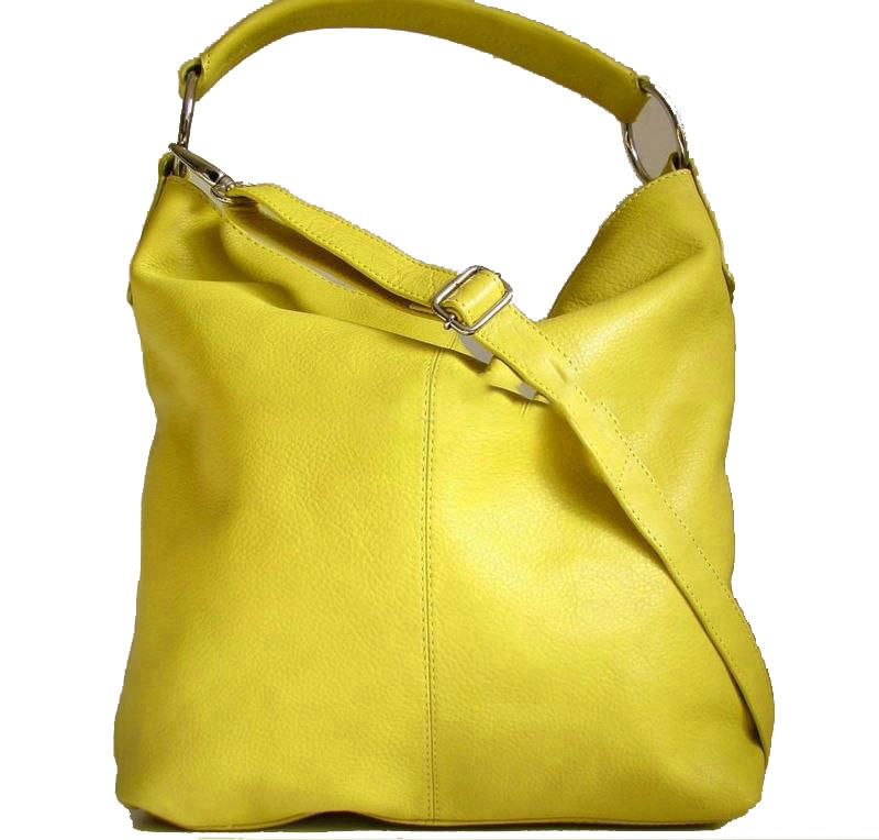 Design Women Soft Leather Hobo Handbag with Long Strap