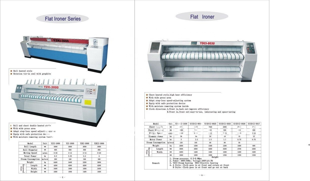 YZII YZI laundry equipment-promotion high performance flatwork ironer