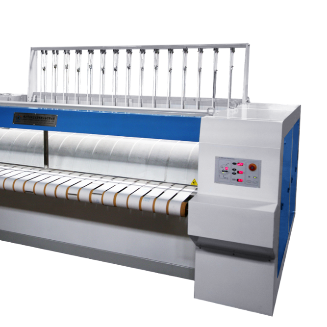 High performance chest--roller style flat ironer machine