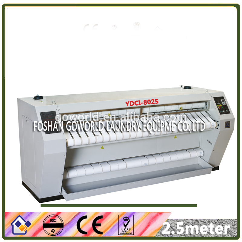 2.5meter chest heated bed sheets commercial ironing machine